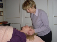 Giving Reiki healing